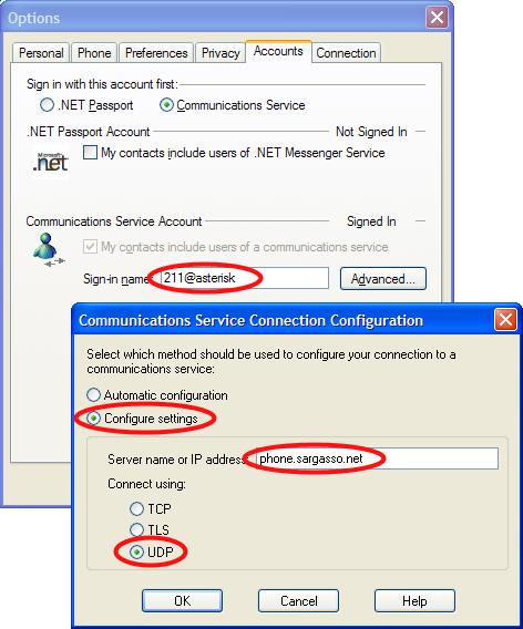 Configuring Messenger to use Asterisk   davidc net